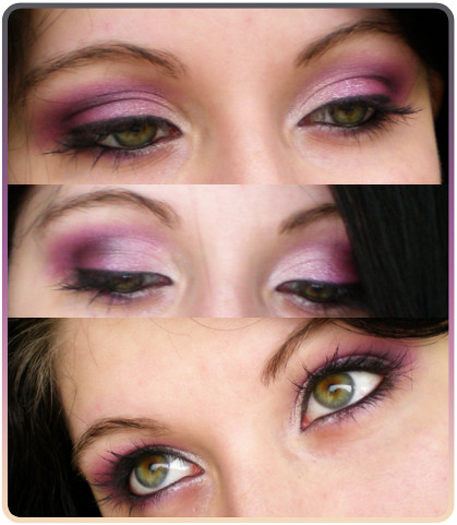 purple pink eye make up kleinnivia flickr. Black Bedroom Furniture Sets. Home Design Ideas