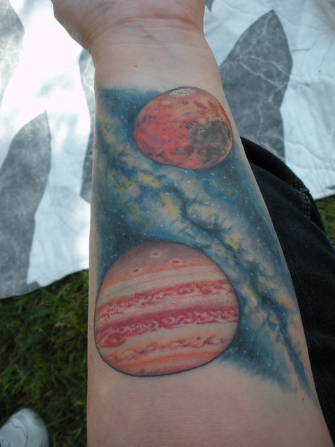 Milky way solar system tattoo pics about space for Milky way tattoo