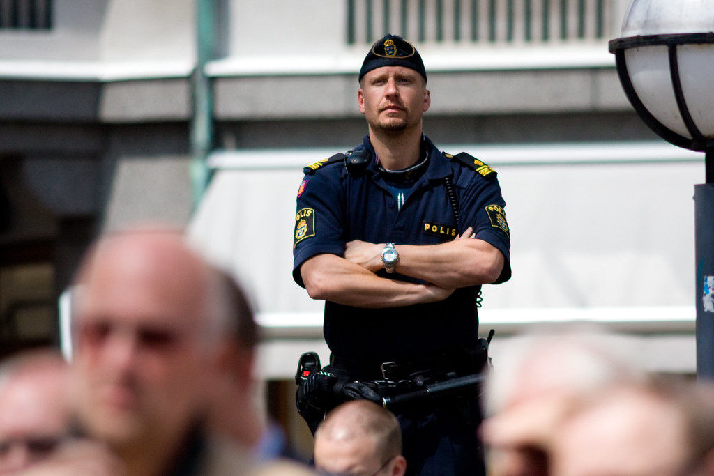 A Swedish police officer.