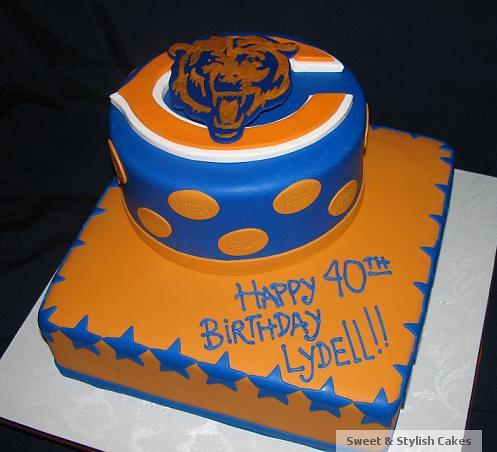 Happy Birthday Chicago Bears Cake
