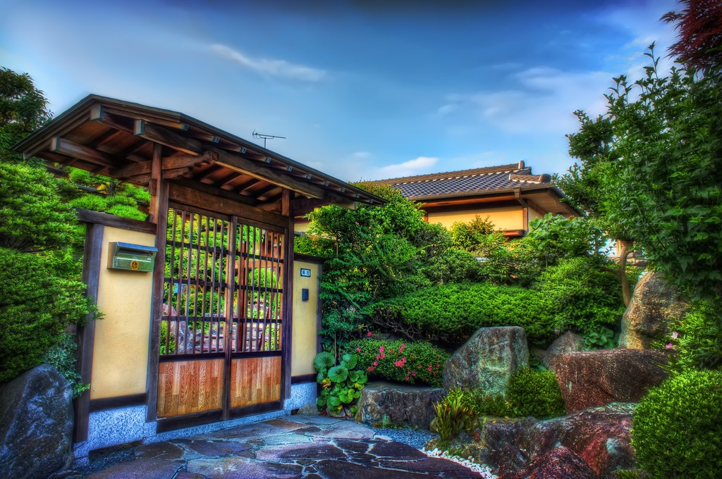 ... Traditional Gate And Japanese Home Garden | By JapanDave