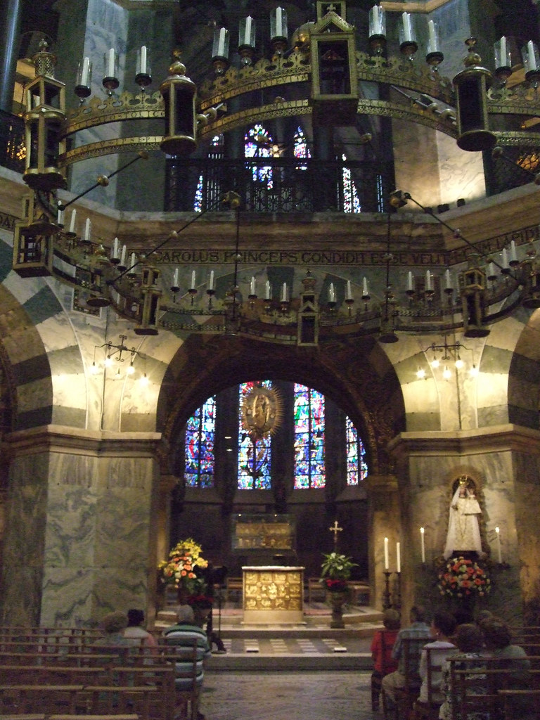 Interior Of The Palatine Chapel, Aachen Cathedral - German