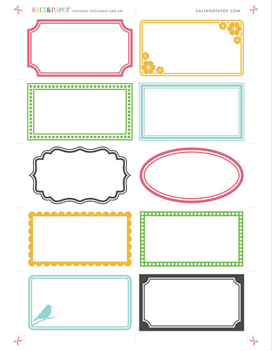 Printable labels from saltandpaper.com | by saltandpaperdotcom