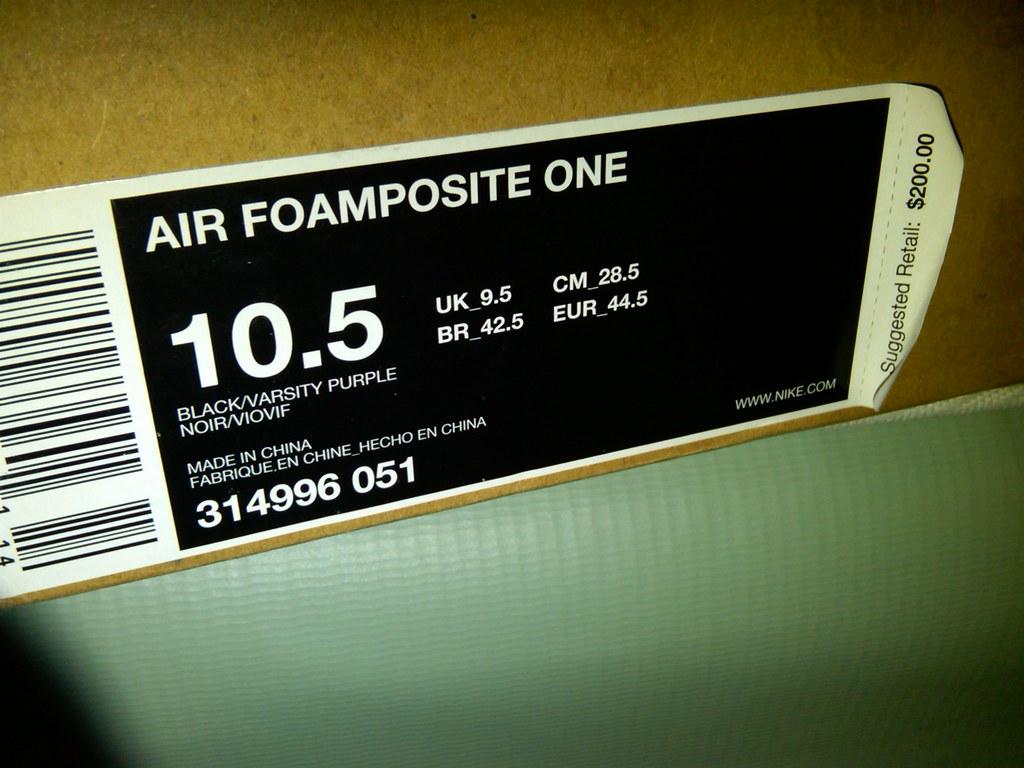 Nike Foamposite Eggplant New With Original Box size 10.5