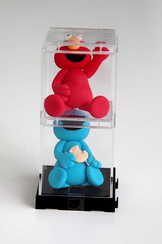 Elmo Cookie Monster Buttercream Cake