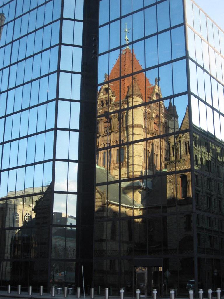 Curtain Wall Church : Trinity church on glass curtain wall the is that of