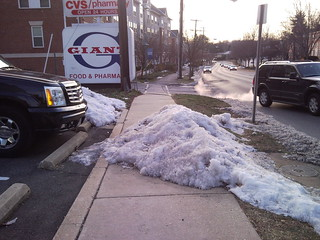 Unshoveled sidewalk along Colesville Road | by Silver Spring Penguin
