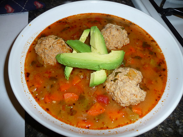 Spicy albondigas soup | Pork meatballs with veggies in broth ...