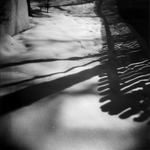 Fence Shadows on Snow | by ricko