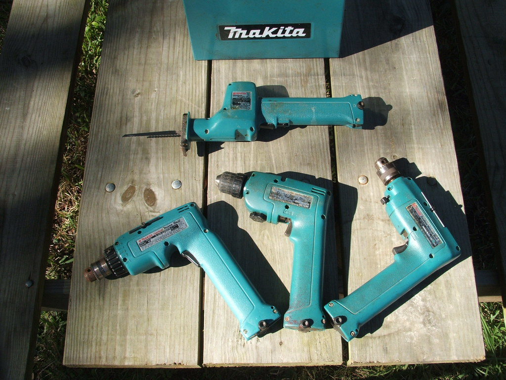 makita 9 6v my old makita 9 6 volt cordless drills they a flickr. Black Bedroom Furniture Sets. Home Design Ideas