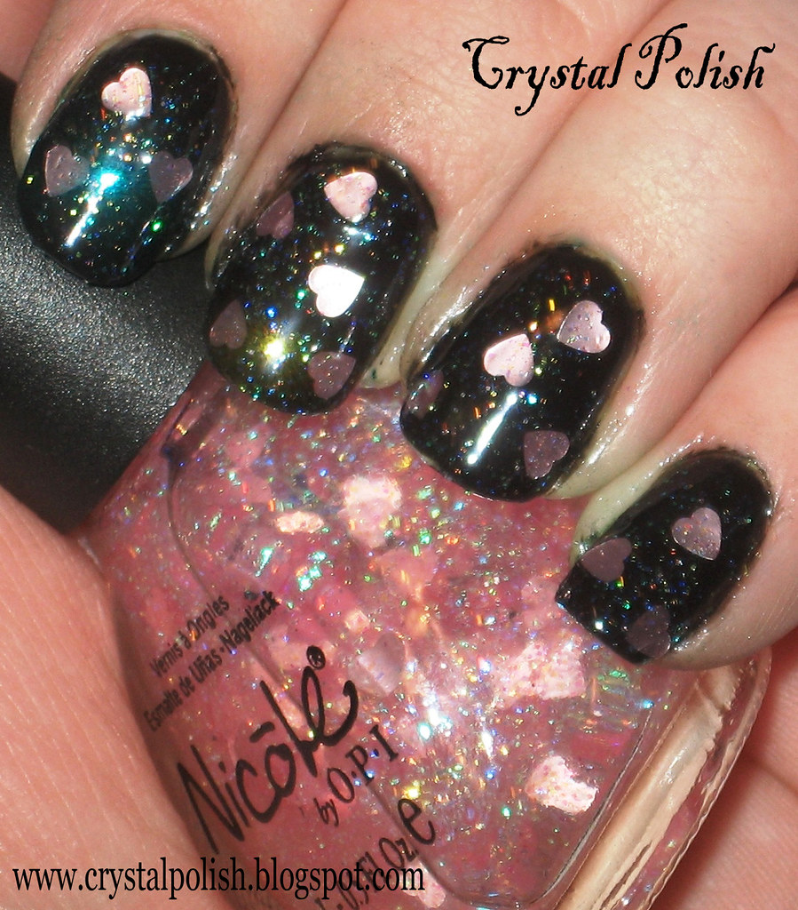 Nicole by OPI Love Your Life | 1 coat over black | CrystalPolish ...