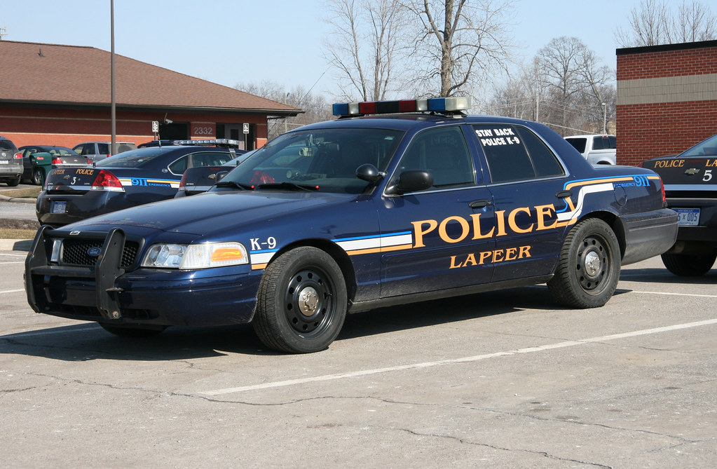 Lapeer Michigan Police Ford Crown Victoria Of The Lapeer