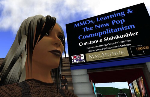 Constance Steinkuehler at the 2010 NMC Symposium on New Media & Learning | by NMC Second Life