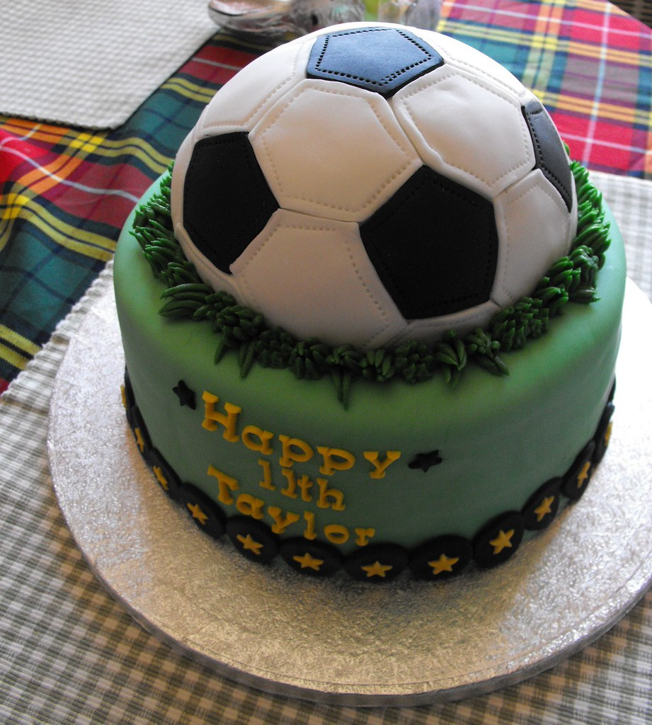 Soccer Ball Cake Thanks to many on Flickr for their ...