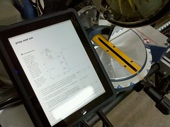 iPad in workshop = bring on sawdust | by Eric Rice