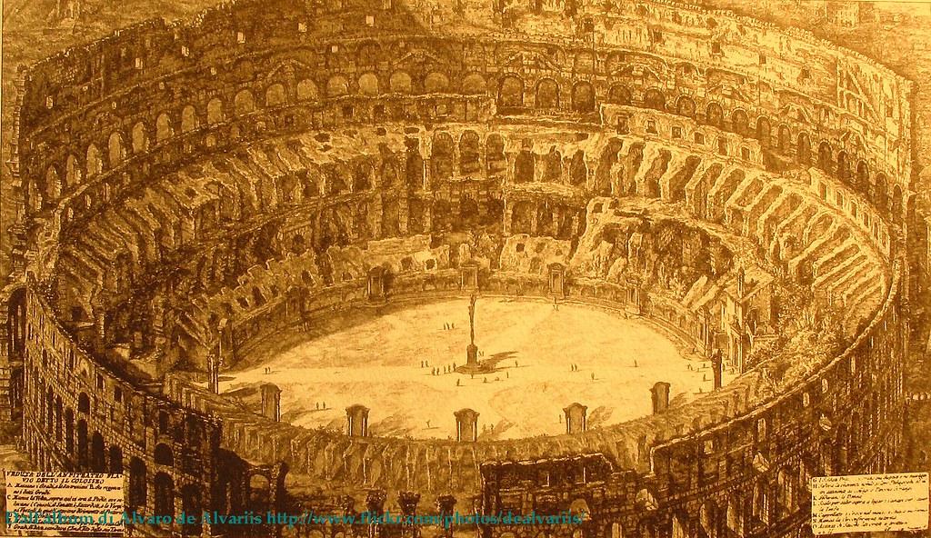 1750 ca 2010 colosseo dall 39 interno da stampe di roma for Interno 5 b b roma