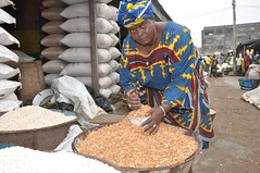 Cowpea seller at Bodija market Ibadan | by IITA Image Library