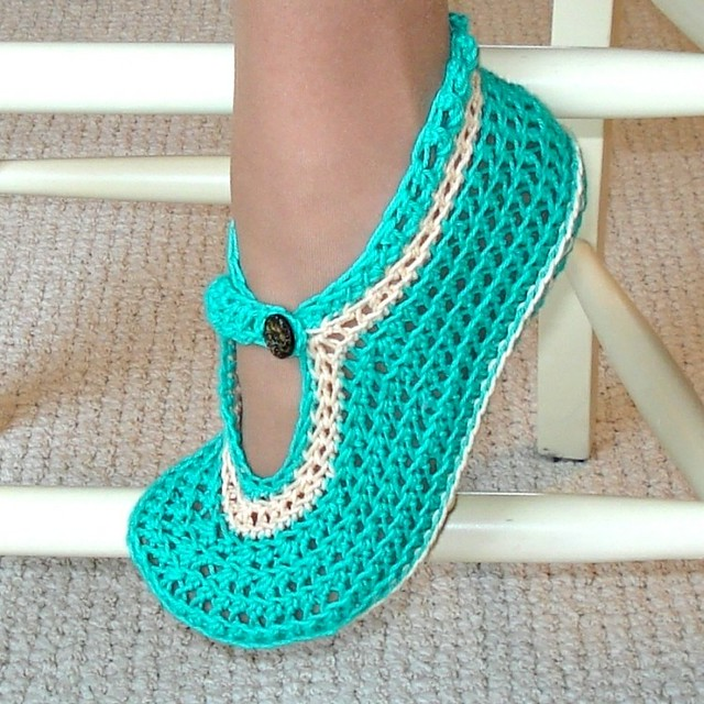 Free Crochet Patterns Mary Jane Booties : Mary Janes slippers Crochet Pattern Easy crochet pattern ...