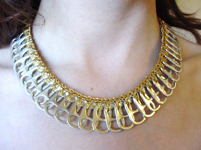 Gold Lame Pull Tab Necklace | Claudia Zimmer | Flickr