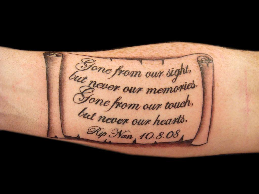 Lettering And Scroll Tattoo Miguel Angel Custom Tattoo Art Flickr