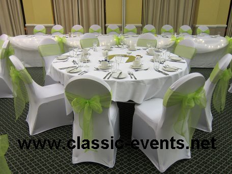 Charmant ... Chair Covers With Apple Green Sashes   Hilton Dartford Crossing | By  Www.classic