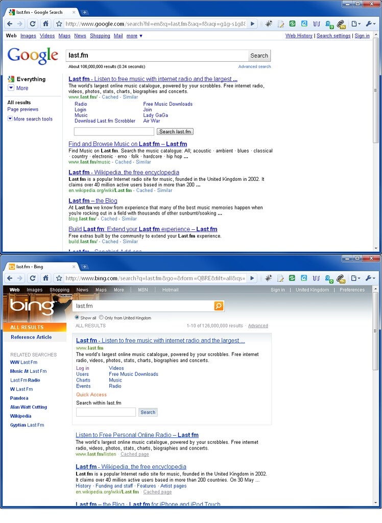 Www Bing Com1 Microsoft Way Redmond: Google Go For Bing Look On Results Pages