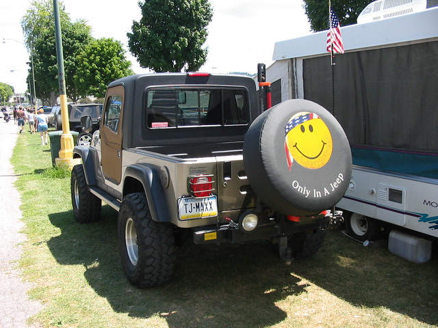 Jeep Wrangler Half Cab Tj License Plate Tj Maxx Flickr