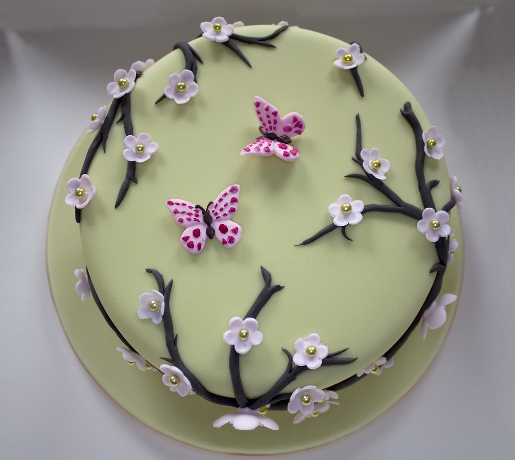 How To Make Cherry Blossom Branches For Cakes