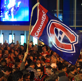 Montreal Canadiens Fan Celebration - Hockey Stick Flag | by Anirudh Koul