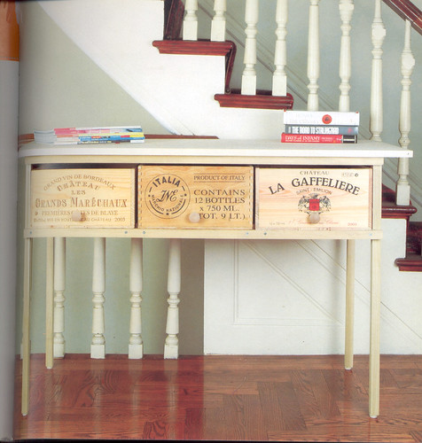 Wine crate table from the book re creative 50 projects for Wine crate diy