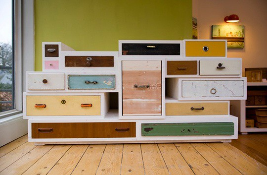 repurposed drawers chest of diy proletariatboston flickr. Black Bedroom Furniture Sets. Home Design Ideas