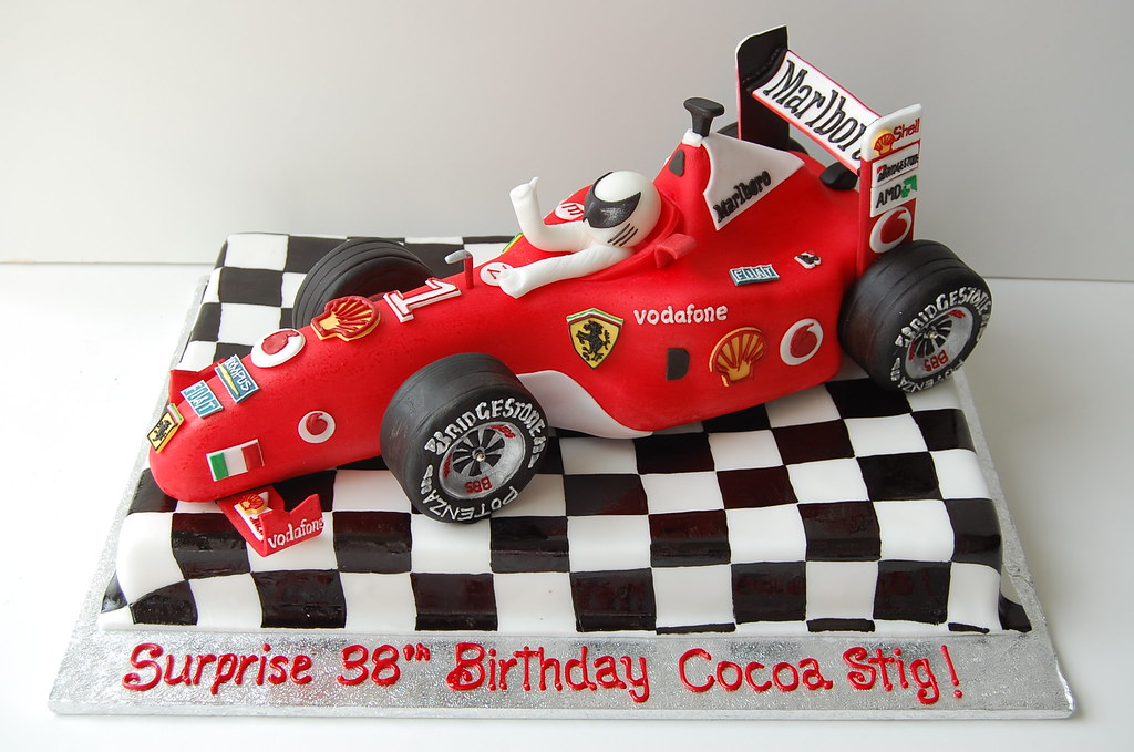 Formula  Car Birthday Cake