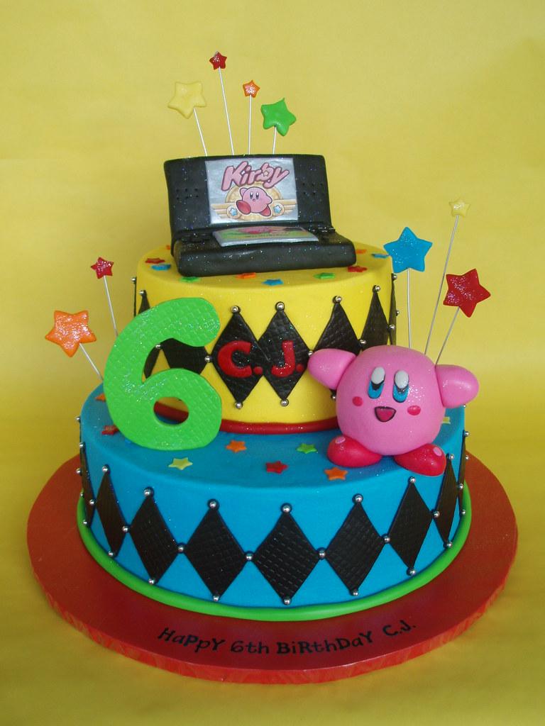 nintendo ds kirby themed birthday cake cj is a boy who l flickr
