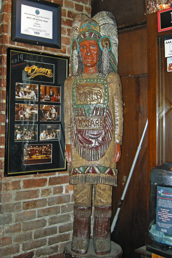 Boston Cheers Wooden Indian 10 8 2010 Although The