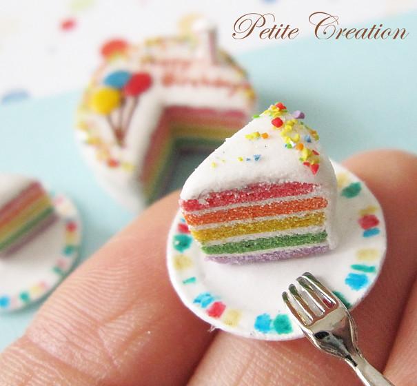 Rainbow Birthday Cake 1 12th Scale Dollhouse Miniature Flickr