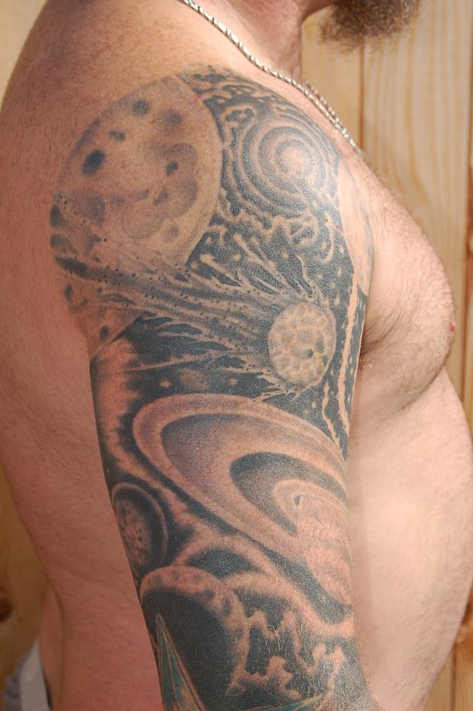 Black And Gray Space 2 Michael Freeman Rosas Tattoo Oddbal Flickr