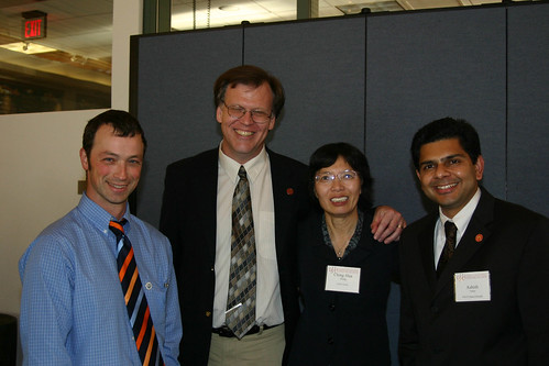 Hampton, Wang, and Vaidya at the Leadership Dinner | by California State University Channel Islands