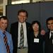Hampton, Wang, and Vaidya at the Leadership Dinner