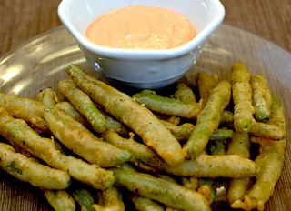 Fried Green Beans with Spicy Dipping Sauce | by carriecarbajal