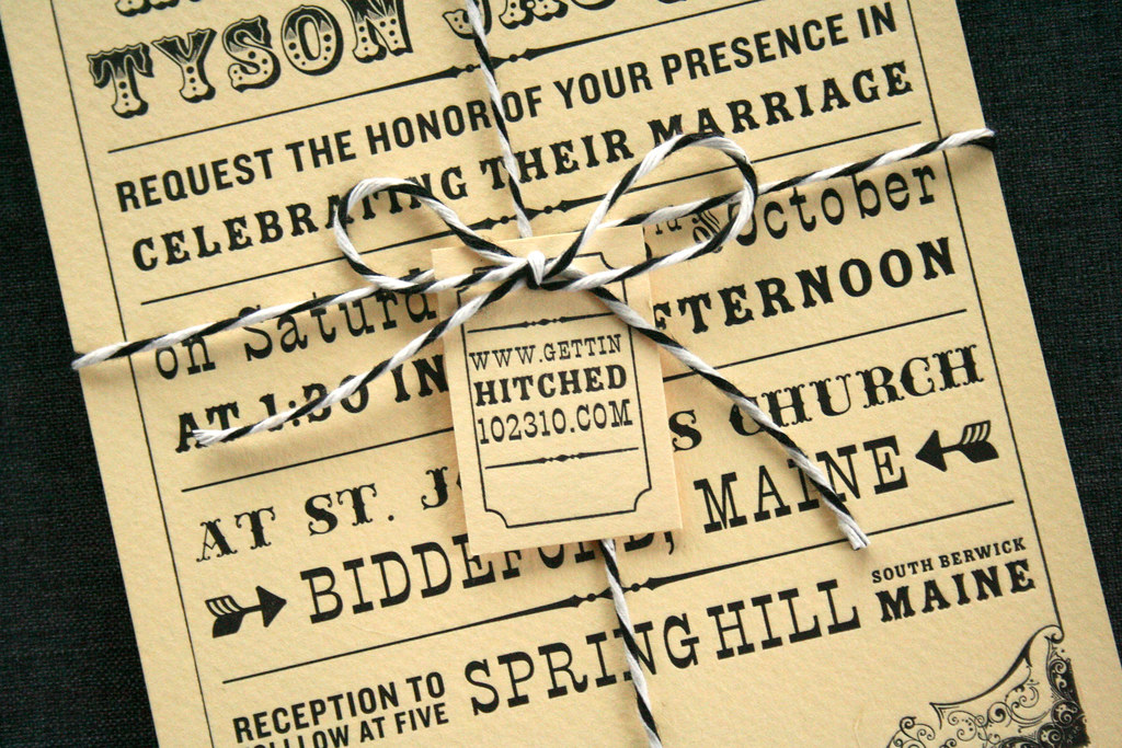 Typography Inspired Wedding Invitations | things are better … | Flickr