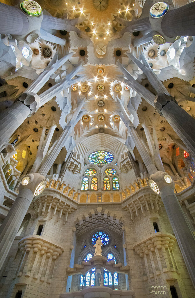 La Sagrada Familia interior Designed by Gaudi in Barcelona Flickr