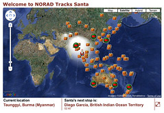 Official NORAD Sanda Tracker Map | by search-engine-land