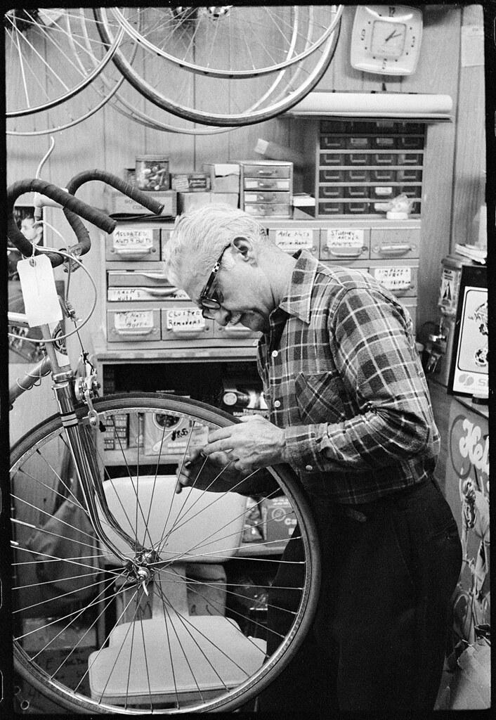 Vito's Bike Shop, Westbury, New York, 1974