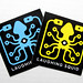 New Powder Blue & Yellow Stickers