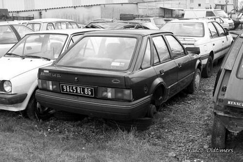 Ford escort mk4 taken at a garage in the haute vienne for Garage ford vienne