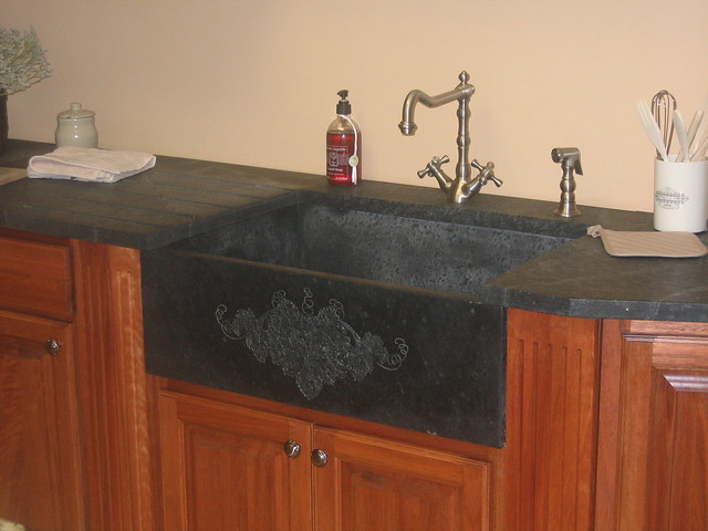 Soapstone Farm Sink with Custom Engraving