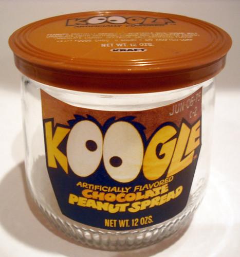 1974 Kraft Koogle Chocolate Peanut Spread Jar Reproduction Flickr