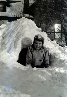 Ted in snow tunnel-1949 | by Ted LaBar