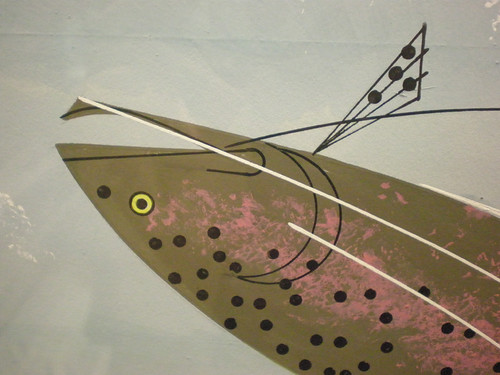 Charley harper fishing on lake keuka detail 02 flickr for Charley s fishing