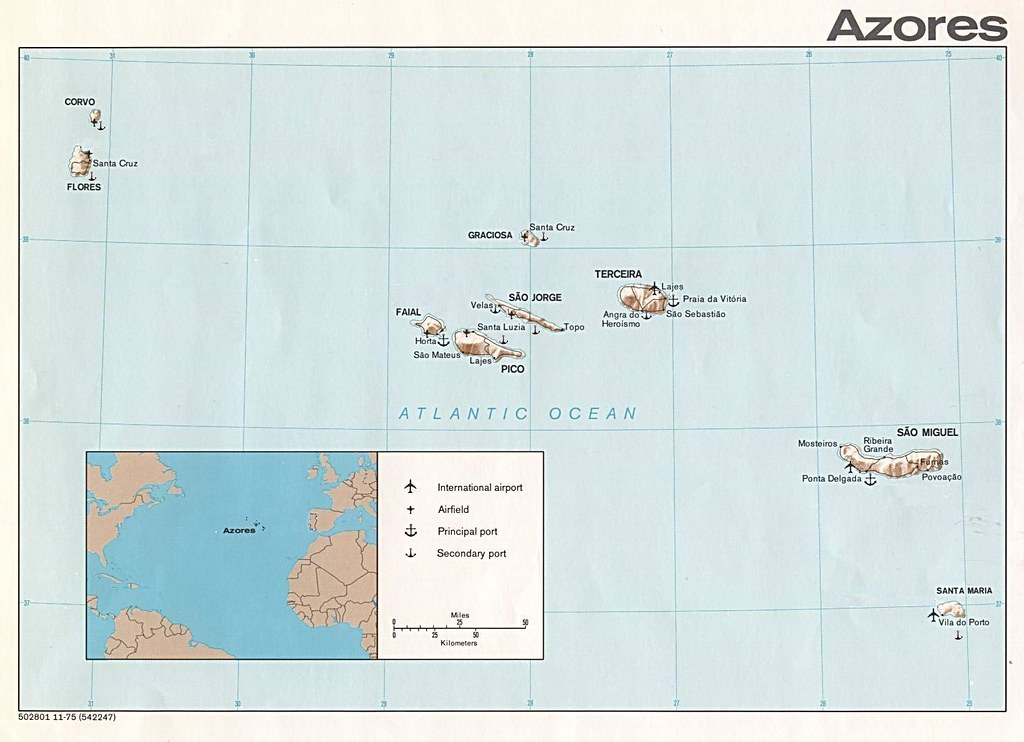 Azores archipelago map. I took from the net | Some infos: is… | Flickr